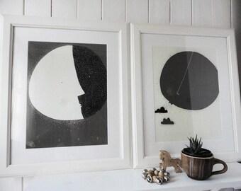 Moon and Sun / LUNA & SOL / Mesíc a slunce - Dark brown version