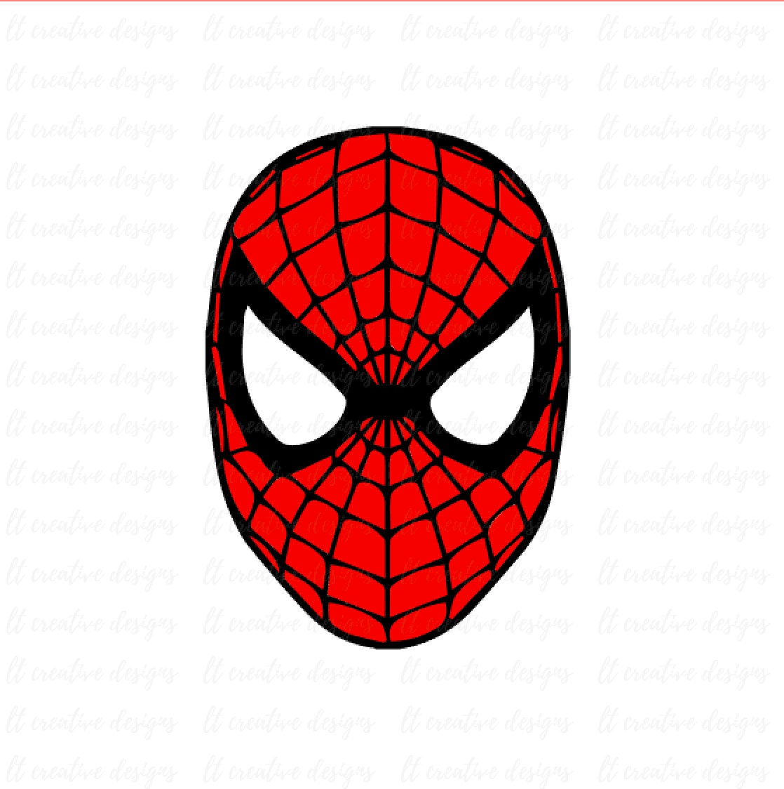 spiderman svg spiderman face svg silhouette cut files rh etsy com Spider-Man Face Paint Spider-Man Face Painting Ideas