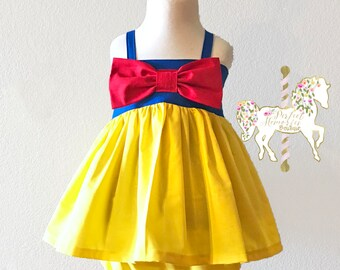 Snow White Top and Short Set | Snow White Birthday Party | Girl Snow White Dress | Baby Princess Dress | Disney Princess | Halloween Costume
