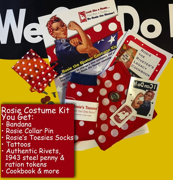 Sale Rosie The Riveter Costume Accessores Kit We Can Do