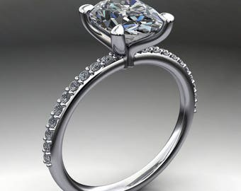 shay ring - 2 carat oval NEO moissanite engagement ring