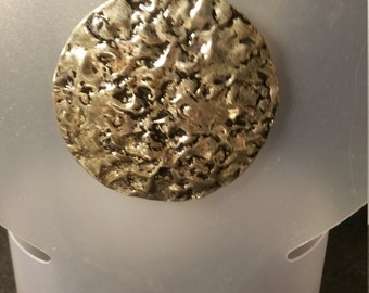 Large metal disc necklace