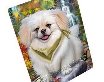 Scenic Waterfall Pekingese Dog Magnet Small/Mini