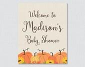 Pumpkin Baby Shower Welco...