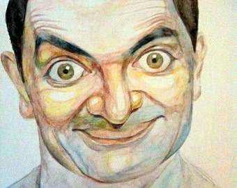 Portrait caricature Mr Bean at the request