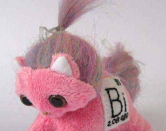 Elemental Cats: Bismuth - OOAK handmade periodic table science art doll soft toy