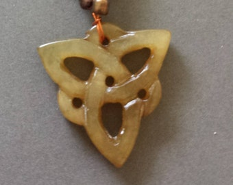 Jade Celtic Knot Necklace - 17 1/2 inches