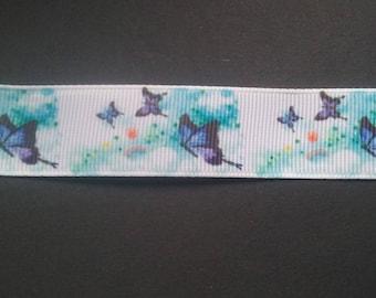 Needles - butterflies - blue - 22 mm