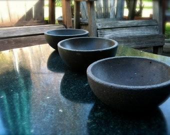 Iron Brown - 3 Bowl Set, In Concrete