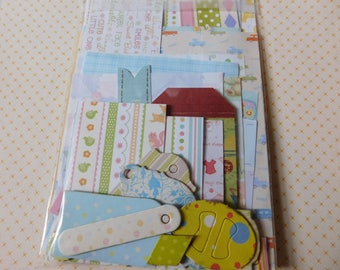 Baby Themed Inspiration Kit - DIY Ephemera Scrap Pack - Bits and Pieces