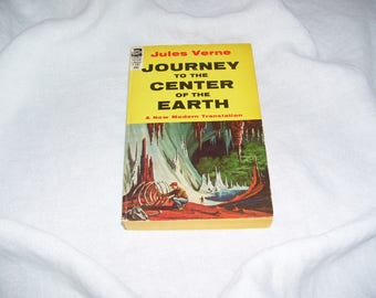 Journey to the Center of the Earth by Jules Verne  Science Fiction Classic Pb 1956 Vintage
