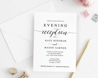 Reception invitation Etsy