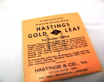 23kt Gold Leaf | Lampwork Supplies | Hastings Gold Leaf | Vintage Gold Leaf