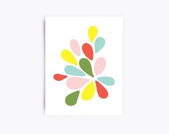 Modern Art Print - Petals No. 2 - 11x14 Print