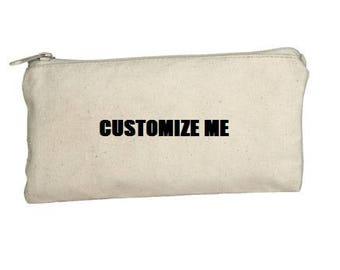 pencil case- customized pencil case- name pencil case- personalized pencil case- customizeable- design your own- makeup bag- custom bag