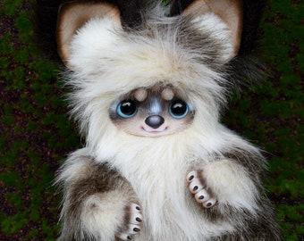 art doll, Fantasy Creature, OOAK, poseable toy