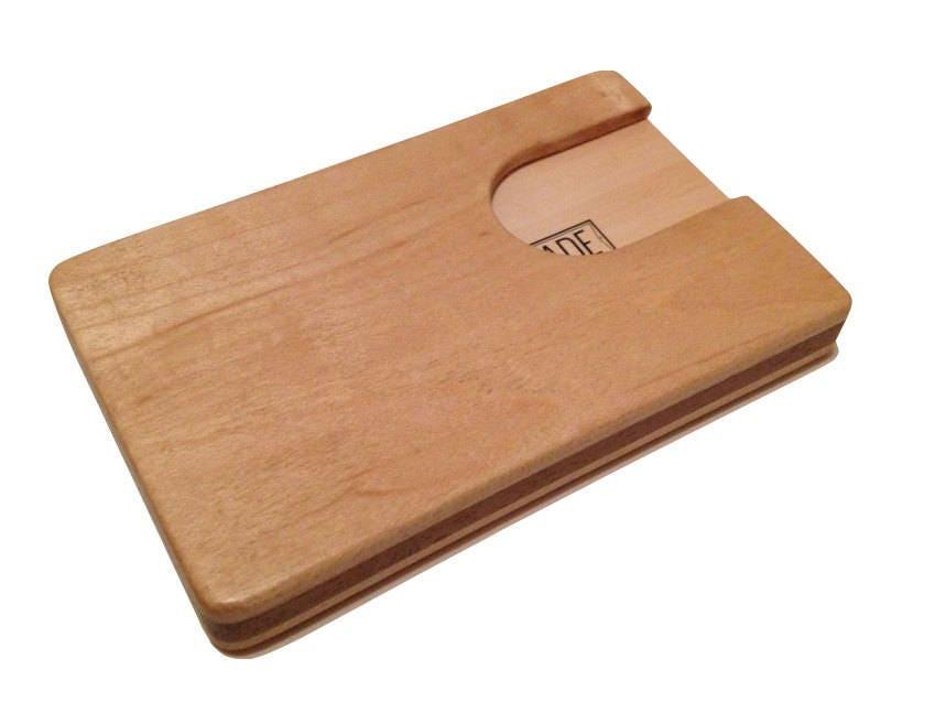 Engraved business card holder walnut personalized monogram logo engraved business card holder walnut personalized monogram logo 1 reheart Image collections