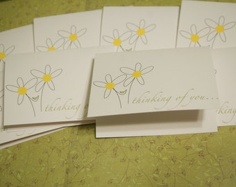 Daisy Thinking of You card set of 8