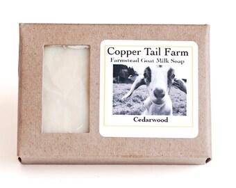 Organic Cedarwood Goat Milk Soap