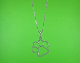 cat-dog paw pendant in silver 925 woman