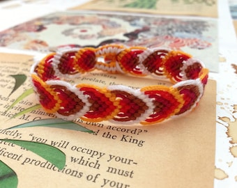 Autumn leaves friendship bracelet