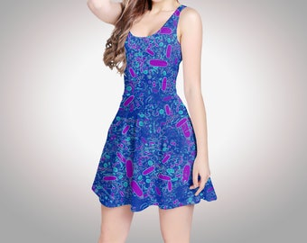 Bacteria cell shapes tennis dress