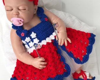 Baby girl dresses, Baby Shower gifts, 4th of July Baby dress, Baby shower dresses, Baby clothes, Newborn girl dress, Baby Coming Home Outfit