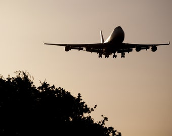 Boeing, 747, Aircraft, Jet Airplane, Flight, Flying, Beauty, Machine, Shadow, Silhouette, Photo, Photography, Fine Art Print,