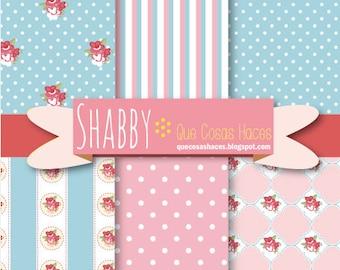 6 Digital printable paper, digital shabby paper, Shabby background, Chic digital paper, Cottage chic, Shabby paper, Shabby digital paper