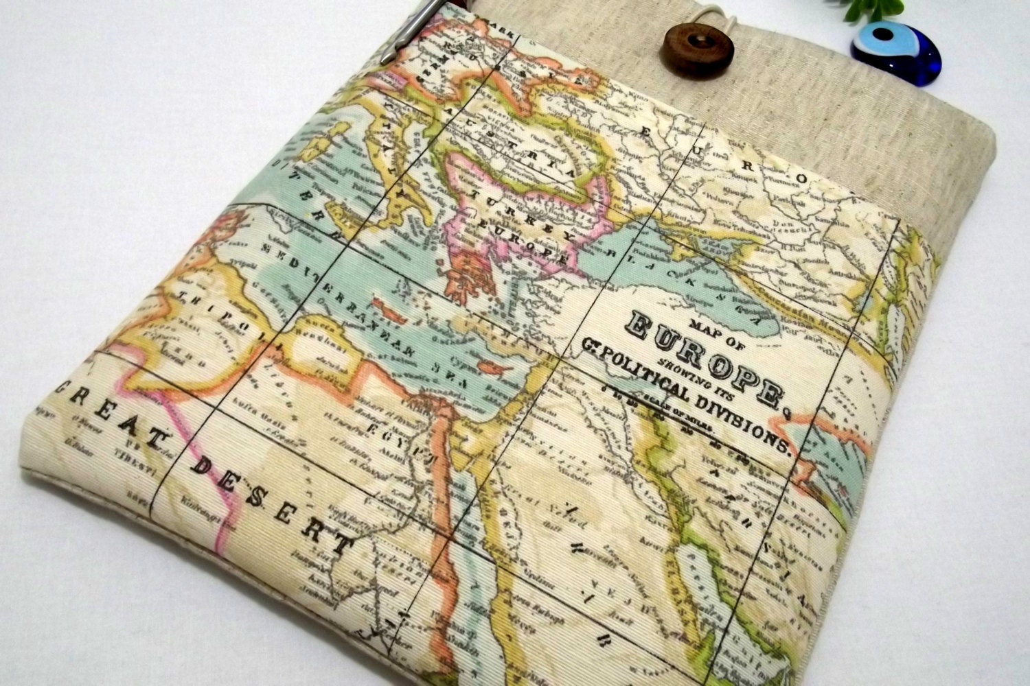 Europe map fabric sleeve ipad air sleeve tablet case 10 inch zoom gumiabroncs Gallery