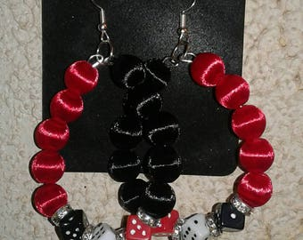 Vegas casino dice earrings
