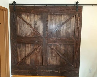 Tongue and groove barn door