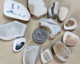 Well rounded sea pottery, sea pottery from New Zealand
