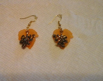 Earrings-Leaf Earrings-Autumn Earrings-Pierced Earrings