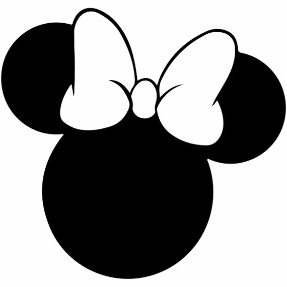 minnie mouse svg outline laptop cup decal svg digital