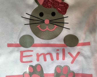 Easter bunny name shirt