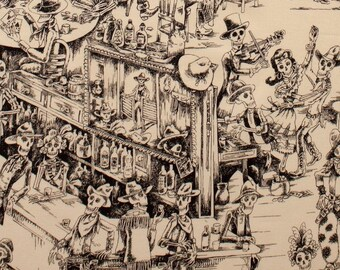 Alexander Henry Deadwood Saloon Premium Cotton Fabric by the yard