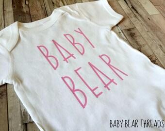 Pink Baby Bear - Baby Bodysuit - Kid Shirt