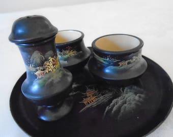 japanese  laquerware breakfast set