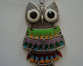 Large OWL necklace articulated
