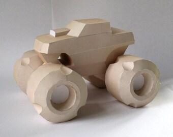 Monster Truck Papercraft Booklet - DIY Template