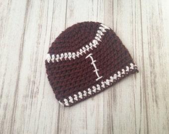 Football Hat, Newborn to Teens hat, winter hat, photography prop, football hat, baby shower gift, newborn hat, toddler hat