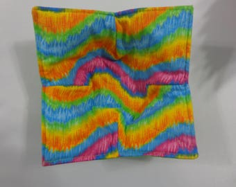 Northern Lights over Pink - Microwave Bowl Cozy
