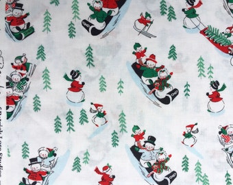 Snow Day snowmen Patrick Lose Studios RJR fabrics FQ or more
