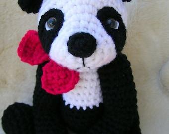 Crochet Pattern Cute Panda Bear by Teri Crews Wool and Whims Instant Download PDF Format