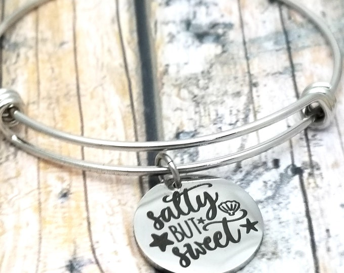 Salty but Sweet Customizable Expandable Bangle Charm Bracelet, choose your charms, create your style, design your bracelet,
