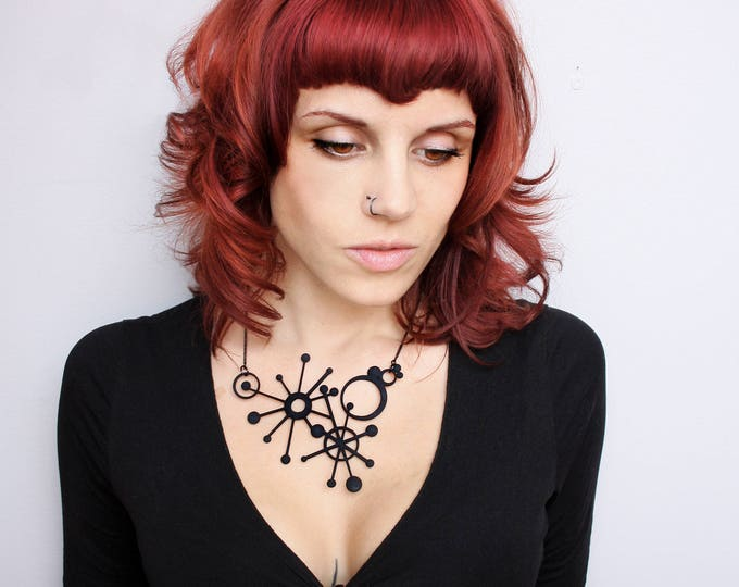 """Sub-Atomic"" Necklace in Black"