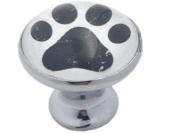Dog PAWS Glass Knob for Dresser Drawers, Cabinet Drawers, Kitchen Cabinets