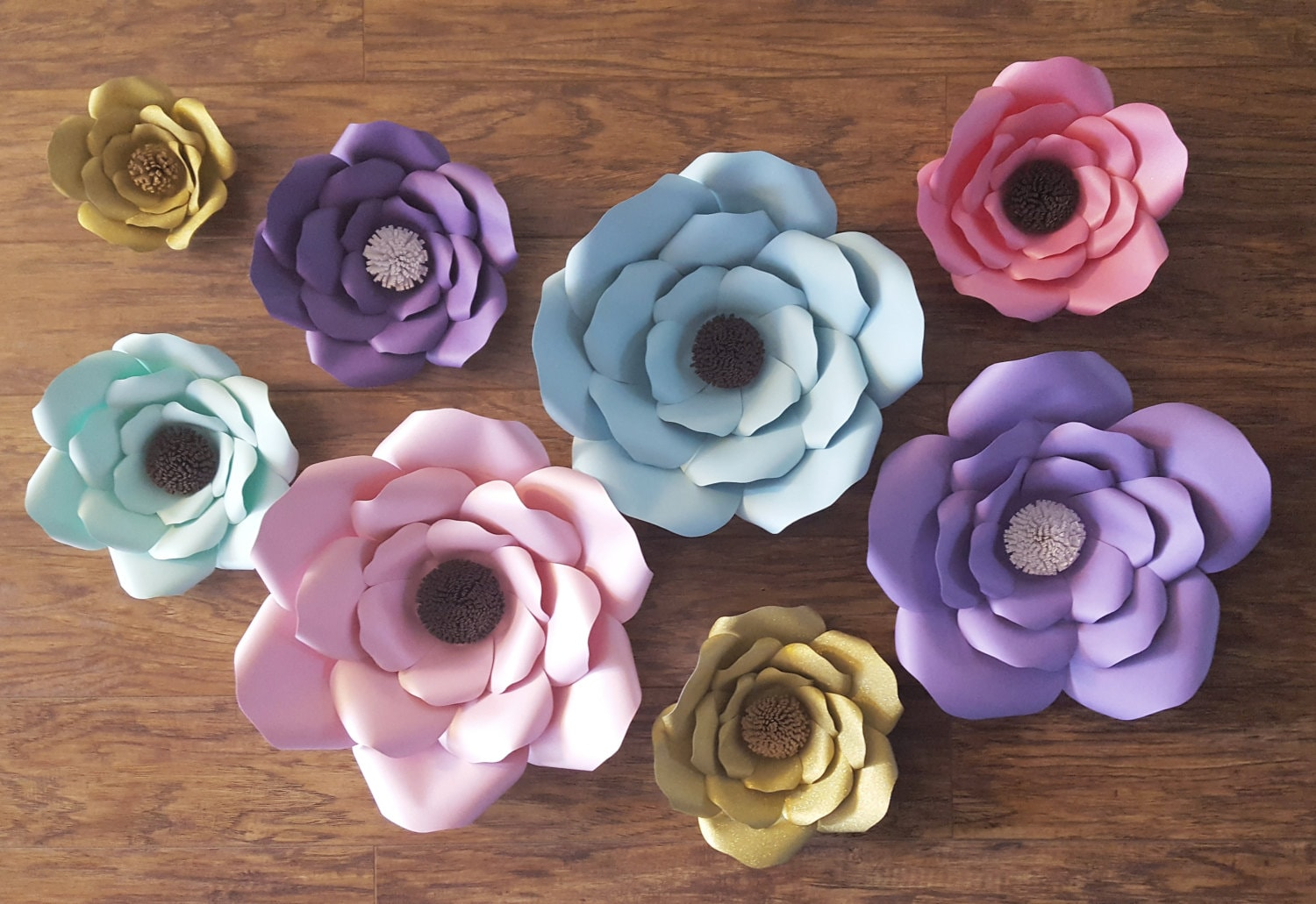 Giant paper flowers large paper flowers gold pink teal zoom mightylinksfo
