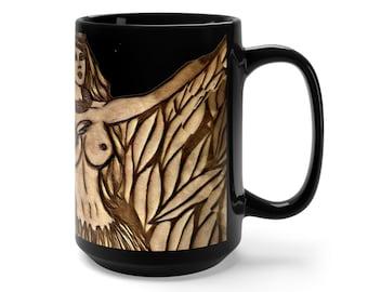 Vintage Hula Black Mug 15Oz